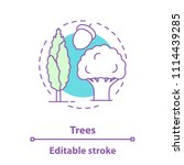 trees concept icon. park ... | Shutterstock .eps vector #1114439285