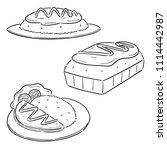 vector set of omelette rice | Shutterstock .eps vector #1114442987