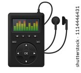 audio player. music device with ...   Shutterstock .eps vector #1114446431