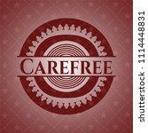 carefree red emblem | Shutterstock .eps vector #1114448831
