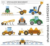 special agricultural machinery... | Shutterstock .eps vector #1114452014