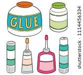vector set of glue | Shutterstock .eps vector #1114456334