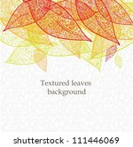 doodle textured leaves... | Shutterstock .eps vector #111446069