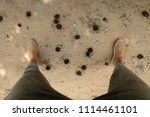 look from above of the legs.   Shutterstock . vector #1114461101