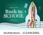 back to school banner design... | Shutterstock .eps vector #1114463081