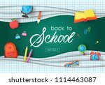 back to school banner design... | Shutterstock .eps vector #1114463087