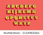 vintage retro 3 dimensional 3d... | Shutterstock .eps vector #1114463261