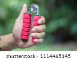 increase your hand and arm... | Shutterstock . vector #1114465145