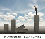 businessmen stand on stone... | Shutterstock . vector #1114467461