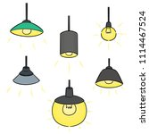 vector set of ceiling lamp | Shutterstock .eps vector #1114467524