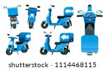 motorcycle for small package... | Shutterstock .eps vector #1114468115