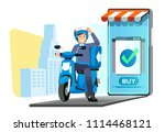 fast delivery shopping online... | Shutterstock .eps vector #1114468121