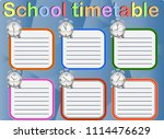 school timetable  a weekly... | Shutterstock .eps vector #1114476629