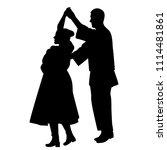 silhouette of dancers dancing a ...   Shutterstock . vector #1114481861