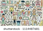 do it yourself. creativity... | Shutterstock .eps vector #1114487681