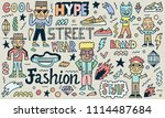 street wear hype fashion wacky... | Shutterstock .eps vector #1114487684
