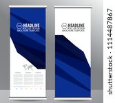 blue roll up business brochure... | Shutterstock .eps vector #1114487867