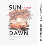 typography slogan with hand... | Shutterstock .eps vector #1114489487