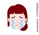 girl head emoji personage icon...   Shutterstock .eps vector #1114490834