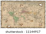 ancient map of the world | Shutterstock . vector #11144917