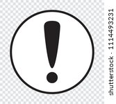 exclamation mark icon.... | Shutterstock .eps vector #1114493231