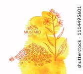 watercolor background with... | Shutterstock .eps vector #1114495601