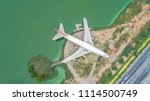 abandoned aircraft in the... | Shutterstock . vector #1114500749