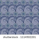 seamless pattern with stylised... | Shutterstock .eps vector #1114502201