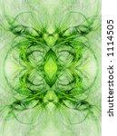 green   high detail fractal art ... | Shutterstock . vector #1114505