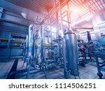 modern interior of a brewery.... | Shutterstock . vector #1114506251