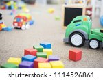 a mess in the children's room.... | Shutterstock . vector #1114526861