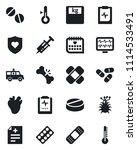 set of vector isolated black... | Shutterstock .eps vector #1114533491