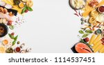 concept of healthy organic food....   Shutterstock . vector #1114537451