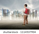 kid education concept.asian boy ... | Shutterstock . vector #1114537904
