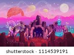 fantasy landscape with a cave... | Shutterstock .eps vector #1114539191