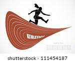 steeplechase runner   vector... | Shutterstock .eps vector #111454187