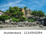 mountain and sea at khao ta... | Shutterstock . vector #1114543394