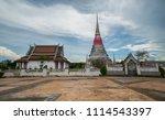 wat phra samut chedi temple ... | Shutterstock . vector #1114543397