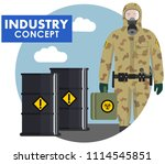 industry concept. detailed... | Shutterstock .eps vector #1114545851