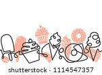 bakery and confectionery... | Shutterstock .eps vector #1114547357