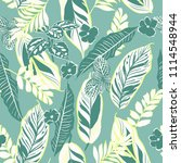 retro tropical leaves and... | Shutterstock .eps vector #1114548944