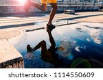 water reflection of... | Shutterstock . vector #1114550609