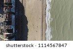 aerial bird view picture knokke ...   Shutterstock . vector #1114567847