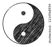yin yang symbol of harmony and... | Shutterstock .eps vector #1114568954