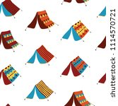 camping tents on a white...   Shutterstock .eps vector #1114570721