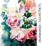 original watercolor painting of ... | Shutterstock .eps vector #1114575671