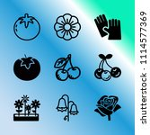 vector icon set about gardening ... | Shutterstock .eps vector #1114577369
