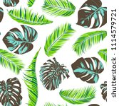 tropic seamless pattern with... | Shutterstock .eps vector #1114579721