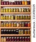 Shelves Of Homemade Preserves...
