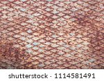 textured metal surface covered...   Shutterstock . vector #1114581491